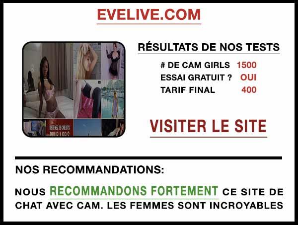 Aperçu du site de cam EveLive